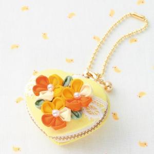 ハート型マカロンコインケース [CO-26(レモン)] パナミ手作りキット(メール便可/お取り寄せ)|yucasiho