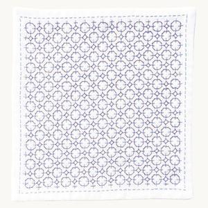 キット「HK-6紫陽花」抗菌・防臭・帯電防止の3重ガーゼ「刺し子のハンカチiine」オリムパス (メール便可/お取り寄せ)|yucasiho