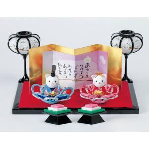 メタリックヤーンでつくる かさね花びな HM-14ねこ パナミ手作りキット (お取り寄せ) yucasiho