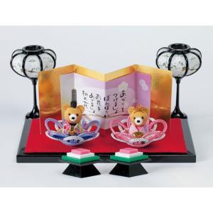 メタリックヤーンでつくる かさね花びな HM-15くま パナミ手作りキット (お取り寄せ) yucasiho