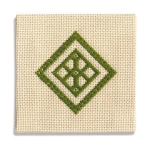 スターターキット 「こぎん19(緑)コースター」  オリムパス (メール便可/お取り寄せ)|yucasiho