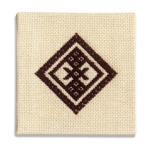 スターターキット 「こぎん21(茶)コースター」  オリムパス (メール便可/お取り寄せ)|yucasiho