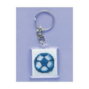 「KS-103 サッカーボール」 かわいいキーリング オリムパスクロスステッチ刺しゅうキット (メール便可/お取り寄せ)|yucasiho