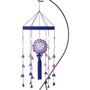 大輪の和かざり(紫 LH-120) 京ちりめんつまみ細工手作りキット パナミ (不可メール便/お取り寄せ)|yucasiho