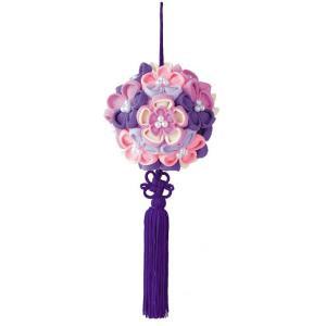 花てまり「LH-376 紫」 つまみ細工手作りキット パナミ (不可メール便/取り寄せ商品)|yucasiho