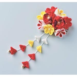 はなやぎ髪飾り[赤LH-427] つまみ細工 パナミ手作りキット (メール便可/お取り寄せ)|yucasiho