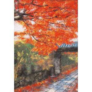 紅葉(MA-4)〜糸の貼り絵〜メタリックアート パナミ手作りキット (メール便可/取り寄せ商品)|yucasiho