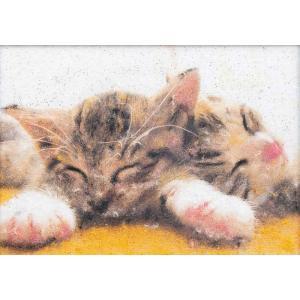 ネコ(MA-6)〜糸の貼り絵〜メタリックアート パナミ手作りキット (メール便可/取り寄せ商品)|yucasiho