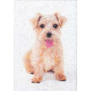 イヌ(MA-7)〜糸の貼り絵〜メタリックアート パナミ手作りキット (メール便可/取り寄せ商品)|yucasiho