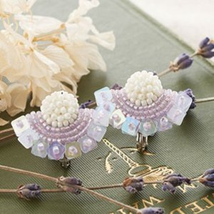 TOHOビーズ刺繍のアクセサリーキット「MAISON DE BRODERIE」メゾン ド ブロドゥリ MDB-3 BIRD earring  (メール便可・取り寄せ商品)|yucasiho