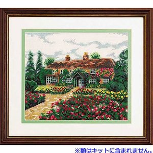 No.7011 思い出の家 オリムパスクロスステッチキット 上級向き (お取り寄せ)