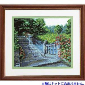 No.7016 水辺の庭園 オリムパスクロスステッチキット 上級向き (お取り寄せ)