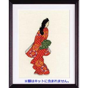 No.7184 「見返り美人図」菱川師宣作  オリムパスクロスステッチキット  (お取り寄せ)|yucasiho