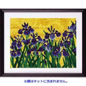 No.7188 「八橋図屏風より」尾形光琳作  オリムパスクロスステッチキット  (お取り寄せ)|yucasiho