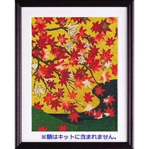 No.7189 「吉野龍田図屏風より」狩野常信作 オリムパスクロスステッチキット  (お取り寄せ)|yucasiho