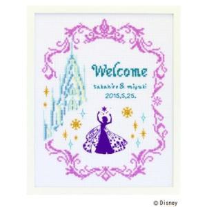 Disneyウェルカムボード「アナと雪の女王 No.7468」クロスステッチ刺しゅうキット オリムパス  (メール便可/取り寄せ商品)|yucasiho