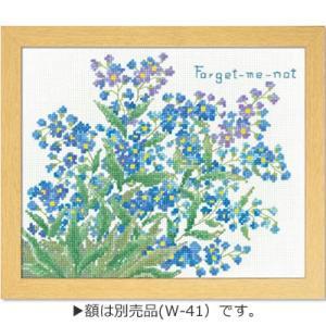 「忘れな草 No.7501」オノエ・メグミ刺しゅうキットシリーズ「ボタニカルガーデン」Olympus(メール便可/お取り寄せ)|yucasiho