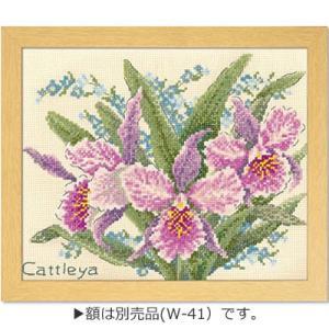 「カトレア No.7502」オノエ・メグミ刺しゅうキットシリーズ「ボタニカルガーデン」Olympus(メール便可/お取り寄せ)|yucasiho