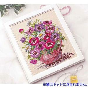 No.845 アネモネ オリムパスクロスステッチキット 中級向き (メール便可/お取り寄せ)|yucasiho