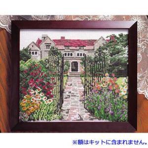 No.884 英国庭園 オリムパスクロスステッチキット 中〜上級向き (お取り寄せ) |yucasiho