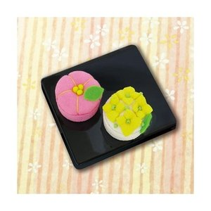 「PA-689 梅と菜の花」 和菓子マグネット エコクラフト手づくりキット-オリムパス (メール便可/お取り寄せ)|yucasiho
