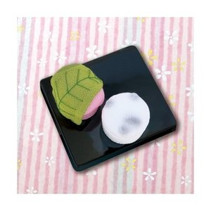 「PA-690 桜餅と豆大福」 和菓子マグネット エコクラフト手づくりキット-オリムパス (メール便可/お取り寄せ)|yucasiho