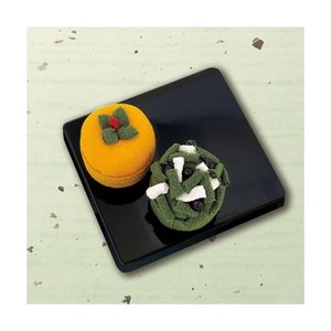 「PA-691 柿と黒松」 和菓子マグネット エコクラフト手づくりキット-オリムパス (メール便可/お取り寄せ)|yucasiho