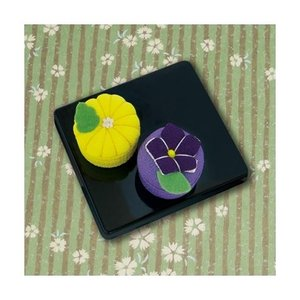 「PA-693 菊と桔梗」 和菓子マグネット エコクラフト手づくりキット-オリムパス (メール便可/お取り寄せ)|yucasiho