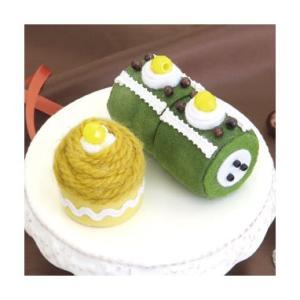SweetsマグネットPA-725 抹茶ロールとモンブラン オリムパスエコクラフトキット 初級向(取り寄せ商品)|yucasiho