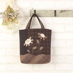 パッチワークキット「PA-752 シックなお花のバッグ」 オリムパス手作りキット (不可メール便/お取り寄せ)|yucasiho