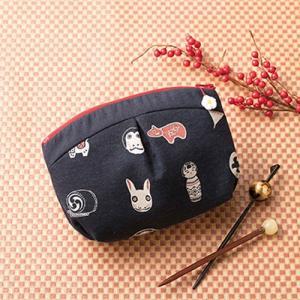 パッチワークキット「PA-758 和柄のぷっくりポーチ」 オリムパス手作りキット (メール便可/お取り寄せ) yucasiho