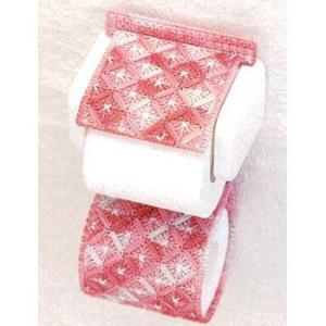 キャンバス手芸 「PH-10 (模様/ピンク) トイレットペーパーホルダー」 タカギ繊維パナミ手作りキット (不可メール便/お取り寄せ)|yucasiho