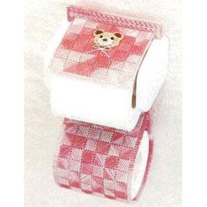 キャンバス手芸 「PH-7(くま/ピンク)トイレットペーパーホルダー」 タカギ繊維パナミ手作りキット (不可メール便/お取り寄せ)|yucasiho