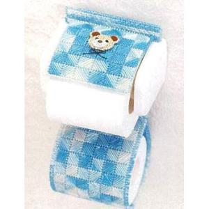 キャンバス手芸 「PH-8(くま/ブルー)トイレットペーパーホルダー」 タカギ繊維パナミ手作りキット (不可メール便/お取り寄せ)|yucasiho