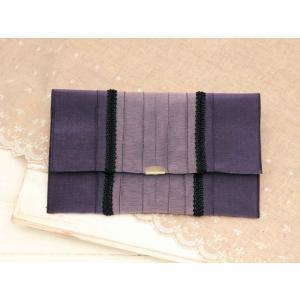 たたみテープ作る「ふくさポーチ(紫)T-35」タカギ繊維パナミ手づくりキット (メール便可/お取り寄せ)|yucasiho