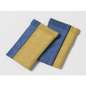 たたみテープ作る「バネ口金付小物入れ(群青×からし)T-9」タカギ繊維パナミ手づくりキット (メール便可/お取り寄せ)|yucasiho