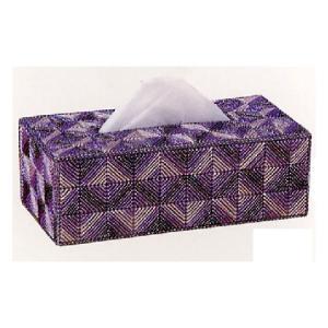 キャンバス手芸 「TC-4(紫)ティッシュカバーパート1」 タカギ繊維パナミ手作りキット (不可メール便/お取り寄せ)|yucasiho