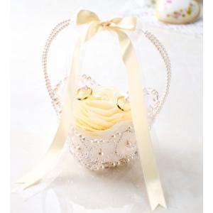 リングピロー フィオーレ (WW-125 シャンパンゴールド) パナミ手作りキット(メール便可/お取り寄せ)|yucasiho