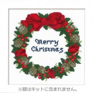 X-106 木の実のリース クロスステッチ刺しゅうキット オリムパス中級 (メール便可/お取り寄せ)|yucasiho