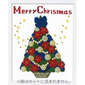 X-107 聖夜のツリー クロスステッチ刺しゅうキット オリムパス中級 (メール便可/お取り寄せ)|yucasiho