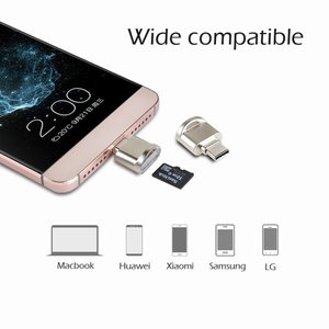 マイクロSD カードリーダー Type-C Micro USB キーチェーン付き OTGアダプター ...