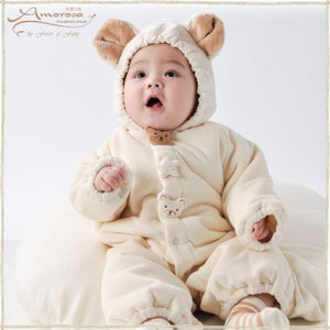 318a65f388860 オーガニックコットン☆ベビーアウター☆あったかロンパース☆中綿☆2way☆日本製 出産祝い ギフト 男の子 女の子 喜ばれるプレゼント 人気 安心安全