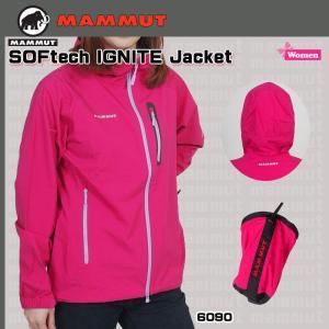 値下げ!!  MAMMUT(マムート) SOFtech IGNITE Jacket Women  ソフテックイグナイトジャケット(女性用)(BGN) (PDN) yugakujin