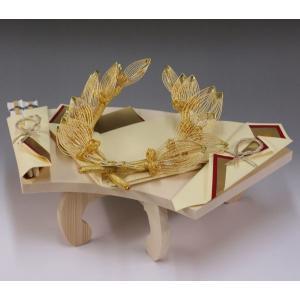 指輪メインのリーズナブルな結納品(木製・扇台付)B【宝船】3品赤・基本セット|yuinou-com