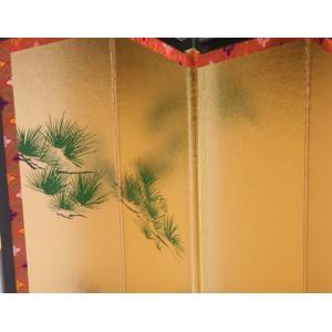 屏風 雛人形・結納用 金屏風単品・8号松柄/高さ24cm|yuinou-com|05