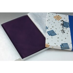 袷帛紗(白山紬)並・無地(紫)|yuinou-com