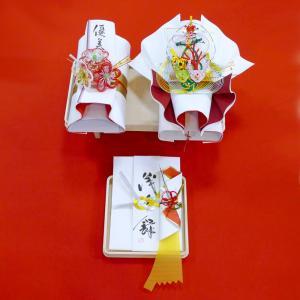 yuinou303 結納品の結納セット 三品目 結納金と指輪と長熨斗のご結納品(目録と毛氈付き) yuinou-mizuhiki