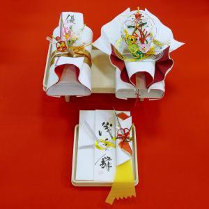 yuinou304 結納品の結納セット 三品目 結納金と指輪と長熨斗のご結納品(目録と毛氈付き) yuinou-mizuhiki
