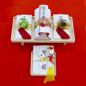 yuinou306 結納品の結納セット 三品目 結納金と指輪と酒肴料のご結納品(長熨斗と目録と毛氈付き) yuinou-mizuhiki