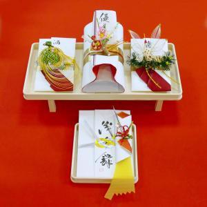 yuinou307 結納品の結納セット 三品目 結納金と指輪と酒肴料のご結納品(長熨斗と目録と毛氈付き) yuinou-mizuhiki